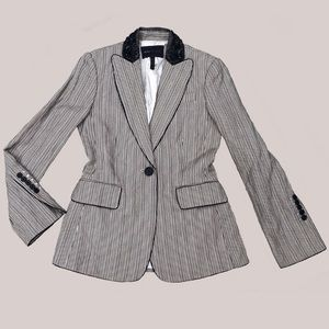 Corporate Beetle juice Striped BCBG Blazer